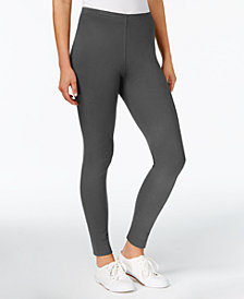 Maison Jules Basic Mid-Rise Leggings, Created for Macy's