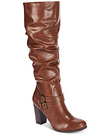 Style & Co Sophiie Ruched Dress Boots, Created for Macy's