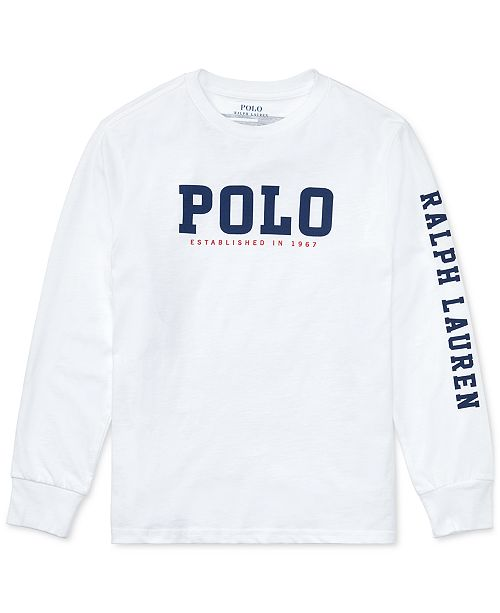 6dc8dafc9 ... Polo Ralph Lauren Ralph Lauren Big Boys Graphic-Print Long-Sleeve  Cotton T- ...