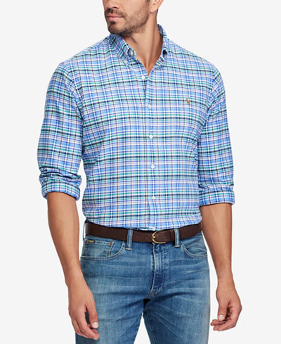 Amazon Sale Pick A Best Polo Ralph Lauren Classic Fit Plaid Oxford Shirt For Sale Official Site Buy Cheap Outlet Store gY9deZ