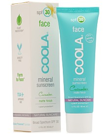 Coola Face Mineral Sunscreen Cucumber Matte Finish SPF 30