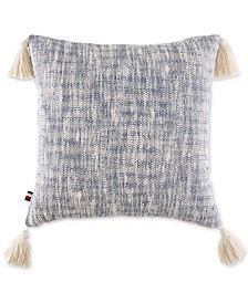 """Tommy Hilfiger Distressed-Dye 18"""" Square Decorative Pillow"""