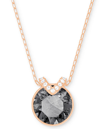 Swarovski Crystal and Pavé Pendant Necklace