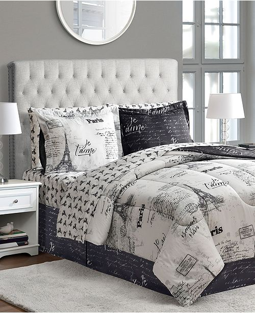 Fairfield Square Collection Paris Reversible 8 Pc Queen