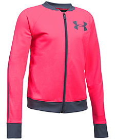 Under Armour Big Girls Logo-Graphic Track Jacket