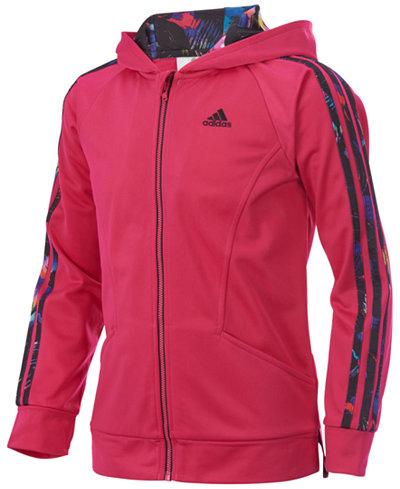 adidas Hooded Activewear Jacket, Toddler Girls