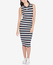 RACHEL Rachel Roy Striped Bodycon Dress & Pendant, Created for Macy's