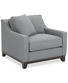 """Keegan 37"""" Fabric Armchair - Custom Colors, Created for Macy's"""
