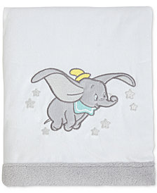 Disney Dumbo Dream Big Embroidered Appliqué Plush Blanket