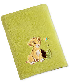Disney Lion King Embroidered Appliqué Plush Blanket