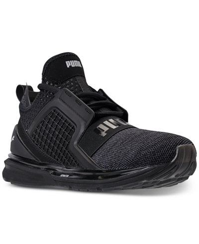 puma men's ignite limitless knit casual sneakers from