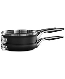 Premier 3-Pc. Space-Saving Hard-Anodized Non-Stick Cookware Set