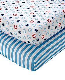Disney Mickey Mouse Crib Sheet 2-Pack