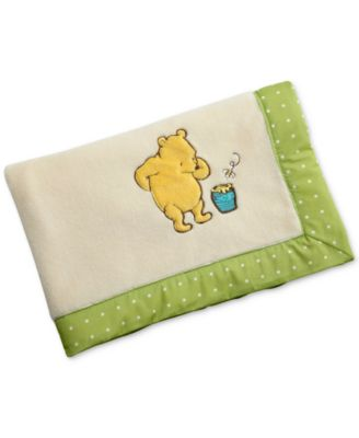 Winne-the-Pooh My Friend Pooh Embroidered Appliqué French Terry Blanket