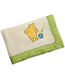 Disney Winne-the-Pooh My Friend Pooh Embroidered Appliqué French Terry Blanket