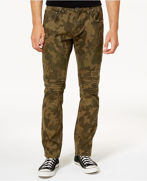 f09cc9ad1e28 ... INC International Concepts I.N.C. Men s Slim-Fit Stretch Camo Moto Jeans