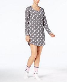 Jenni by Jennifer Moore Graphic Sleepshirt and Socks Set, Created for Macy's