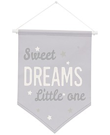 The Dreamer Collection Sweet Dreams Little One Graphic-Print Wall Banner