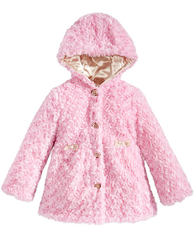 London Fog Hooded Reversible Faux-Fur Jacket, Little Girls (4-6X ...