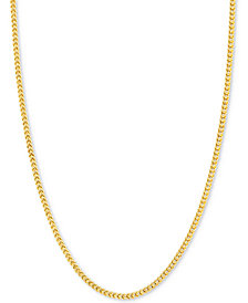 "18"" Franco Chain Necklace in 14k Gold"