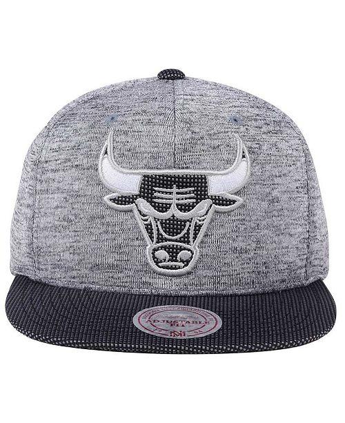 2db7d6b4378 ... release date mitchell ness chicago bulls space knit snapback cap sports  fan shop by lids men
