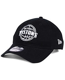 New Era Detroit Pistons Black White 9TWENTY Cap