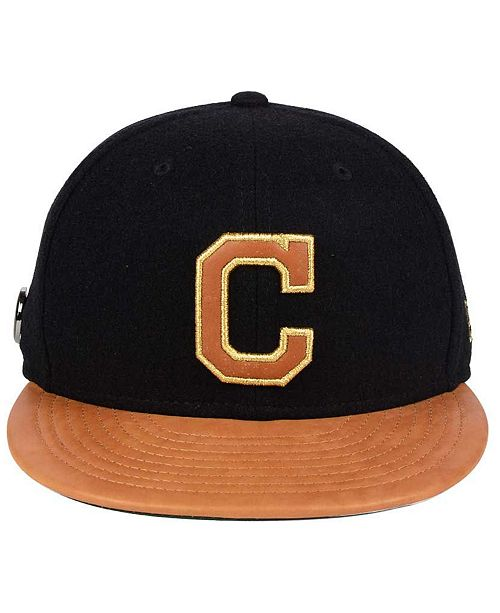 buy online 4bfc9 c1d21 ... inexpensive new era cleveland indians x wilson metallic 59fifty fitted  cap sports fan shop by lids