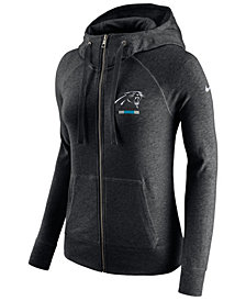 Nike Women's Carolina Panthers Gym Vintage Full-Zip Hoodie