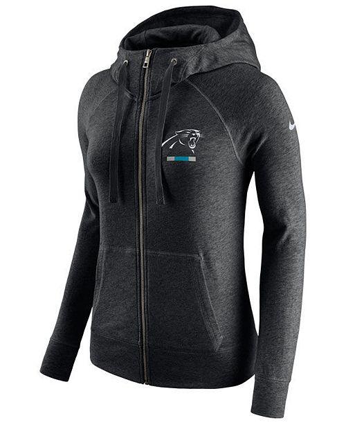 d561ffcbe Nike Women s Carolina Panthers Gym Vintage Full-Zip Hoodie - Sports ...