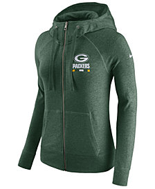 Nike Women's Green Bay Packers Gym Vintage Full-Zip Hoodie