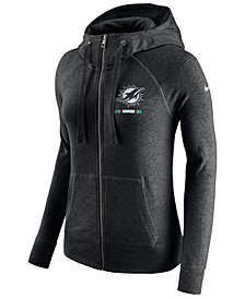 Nike Women's Miami Dolphins Gym Vintage Full-Zip Hoodie