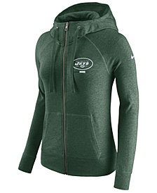 Nike Women's New York Jets Gym Vintage Full-Zip Hoodie