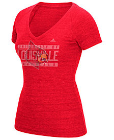 adidas Women's Louisville Cardinals Rhinestone T-Shirt