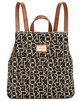 Calvin Klein Teodora Medium Signature Jacquard Backpack