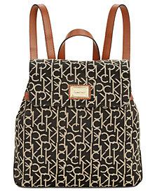 Calvin Klein Teodora Signature Jacquard Backpack