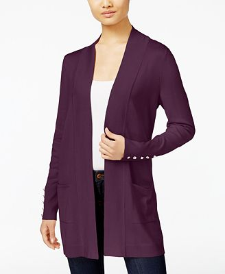 JM Collection Open-Front Cardigan, Created for Macy's - Sweaters ...