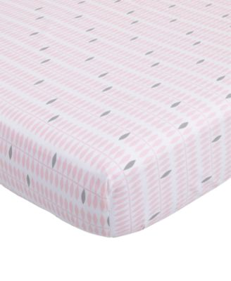 Dreaming in Dax  100% Cotton Geo-Print Fitted Crib Sheet