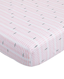 Petunia Pickle Bottom Dreaming in Dax  100% Cotton Geo-Print Fitted Crib Sheet