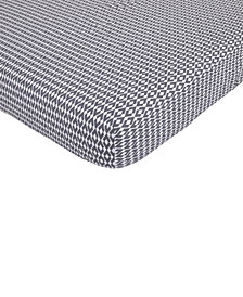 Petunia Pickle Bottom Southwest Skies  100% Cotton Geo-Print Fitted Crib Sheet
