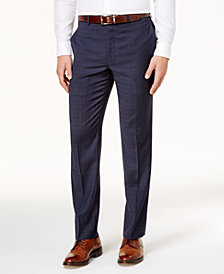 Lauren Ralph Lauren Men's Classic-Fit Windowpane Check Wool Dress Pants
