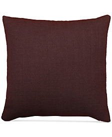 "LAST ACT! Hallmart Collectibles Purple Textured Faux-Linen 20"" Square Decorative Pillow"