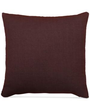 """Last Act! Hallmart Collectibles Purple Textured Faux-Linen 20"""" Square Decorative Pillow 4958516"""
