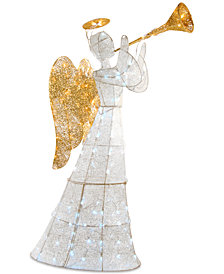 "National Tree Company 60"" LED Crystal Trumpeting Angel With Halo"