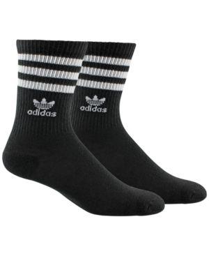 3 Pack Black Ankle Socks With Trefoil Logo - Black, Black/White