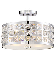 Lite Source Damond Semi-Flush Lamp