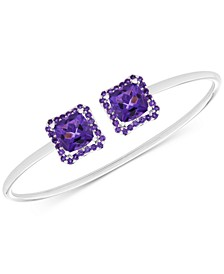 Amethyst Cuff Bangle Bracelet (5 ct. t.w.) in Sterling Silver