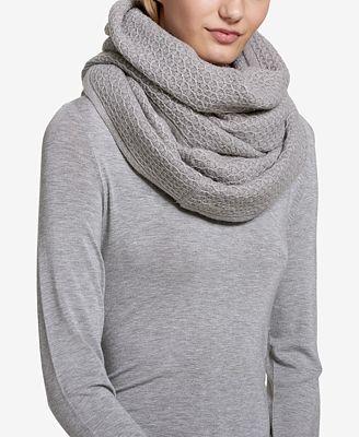 Calvin Klein Metallic Textured Infinity Scarf