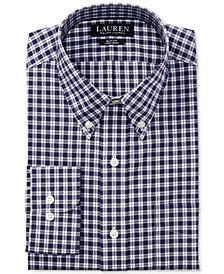 Lauren Ralph Lauren Men's Slim Fit Stretch Non-Iron Purple Plaid Dress Shirt