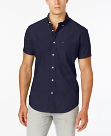 Tommy Hilfiger Men's Maxwell Short-Sleeve Button-Down Classic Fit Shirt, Created for Macy's