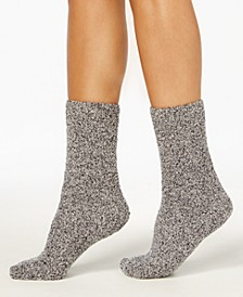 Women's Marled Supersoft Fuzzy Cozy Socks, Created for Macy's